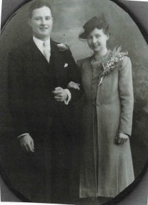Thomas Griffiths and his wife on their wedding day